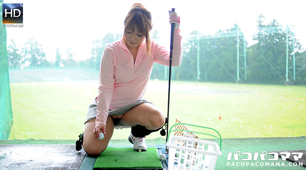 ゴルフ好きの巨乳熟女